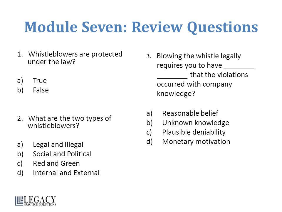 Module Seven: Review Questions