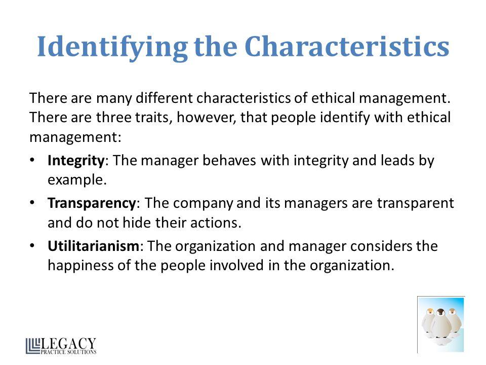 Identifying the Characteristics