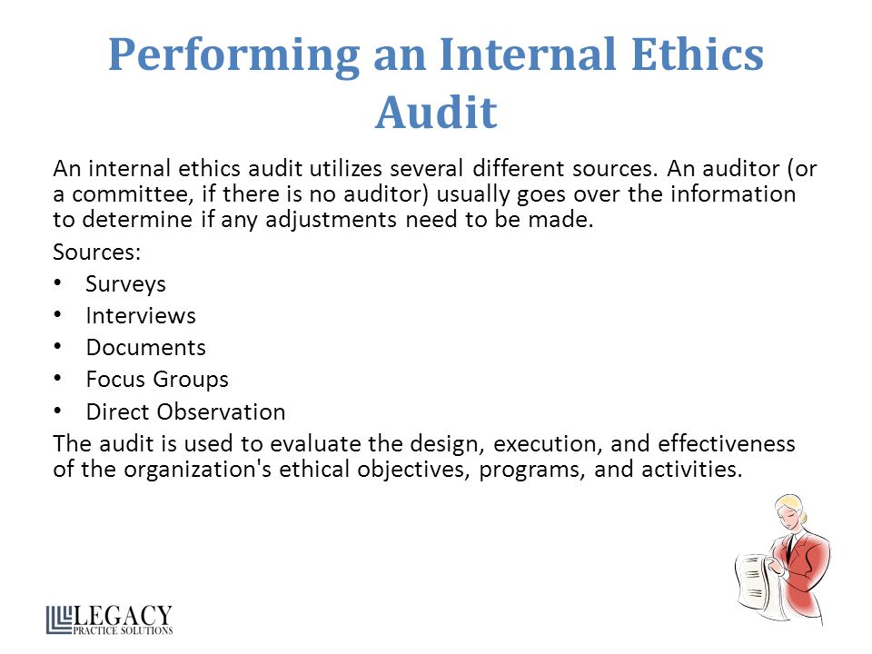 Performing an Internal Ethics Audit