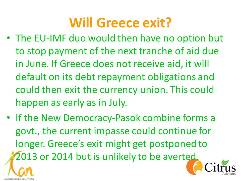 Will Greece exit