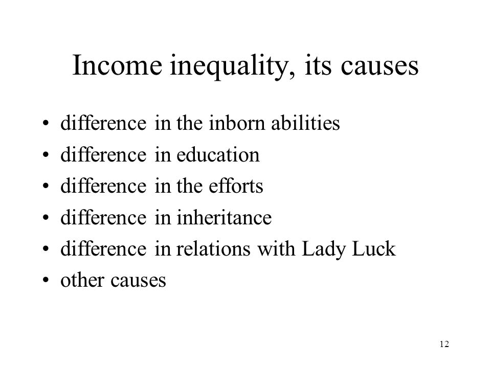 Income inequality, its causes
