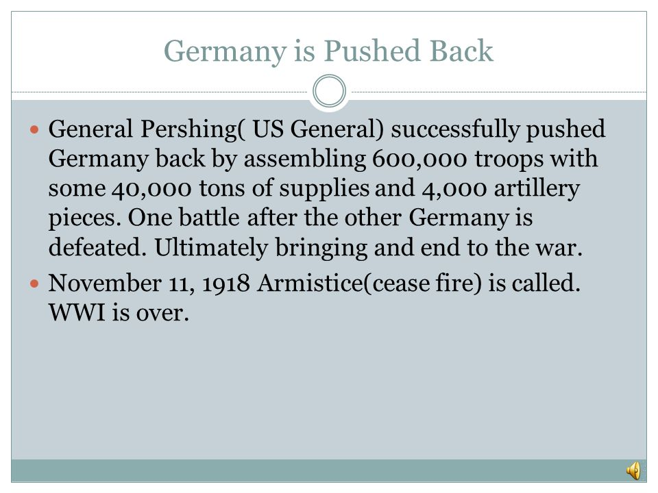 Germany is Pushed Back