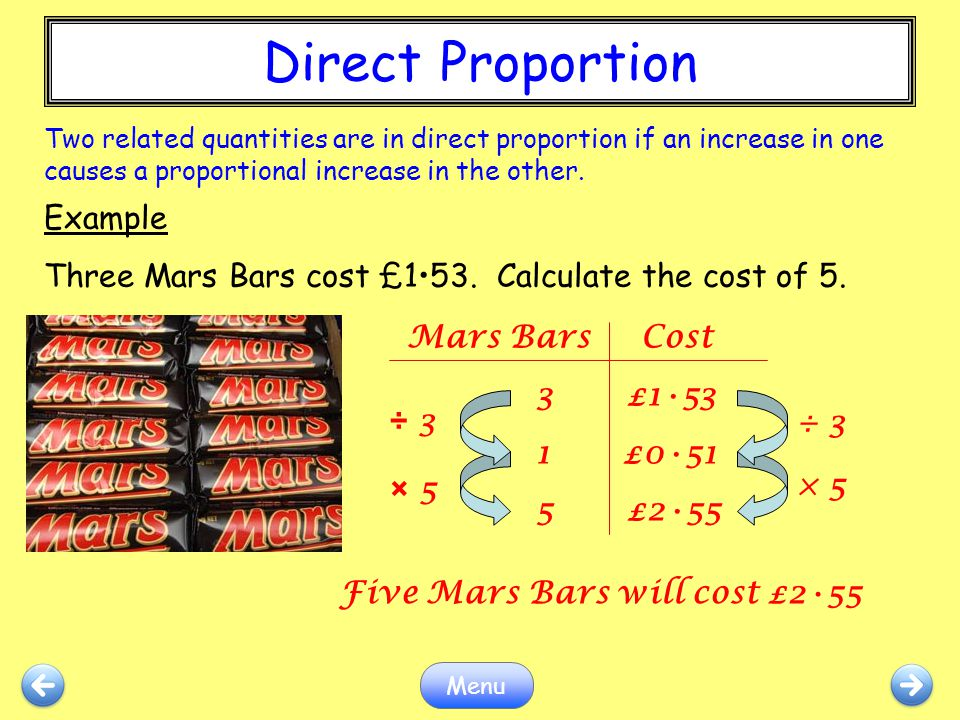 Direct Proportion Example