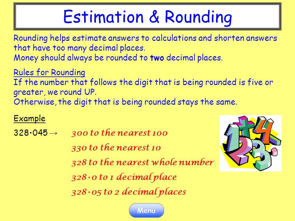 Estimation & Rounding