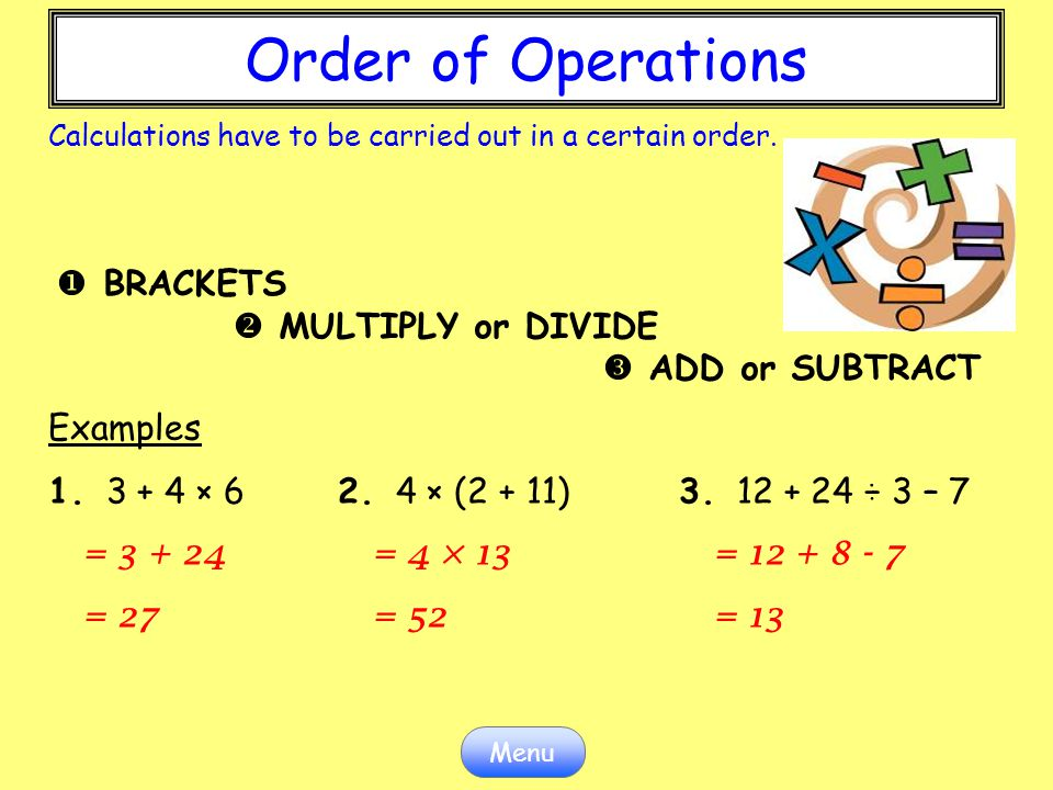 Order of Operations Order of Operations