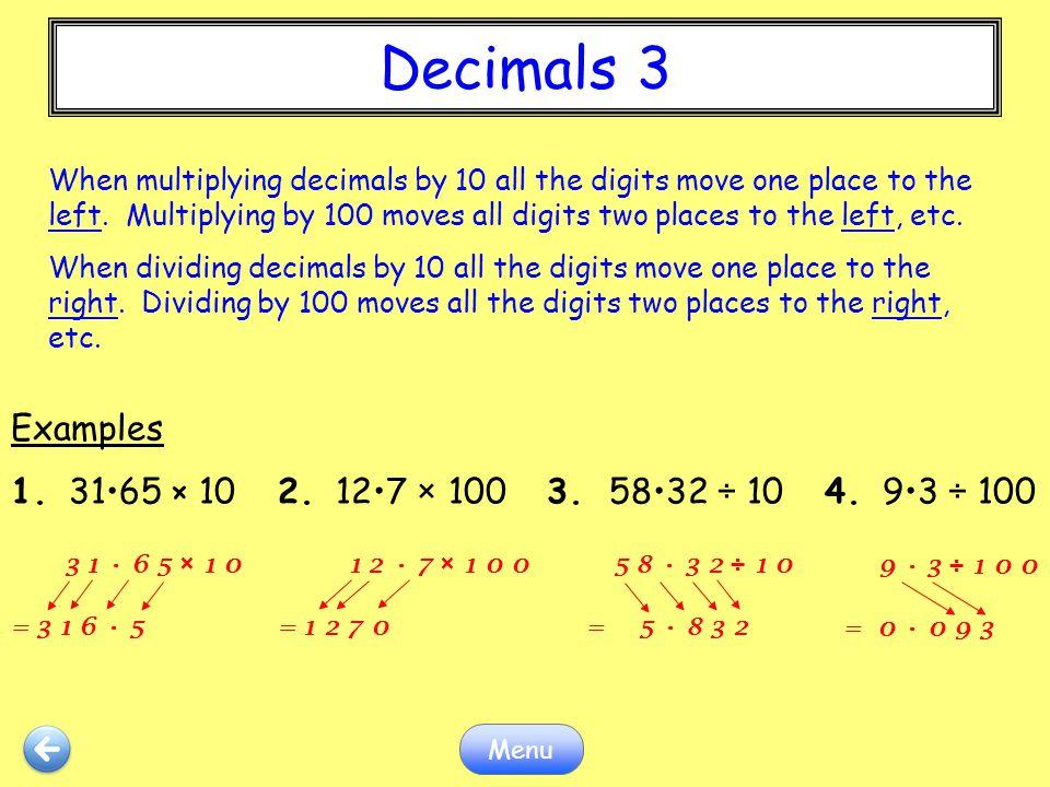 Decimals 3