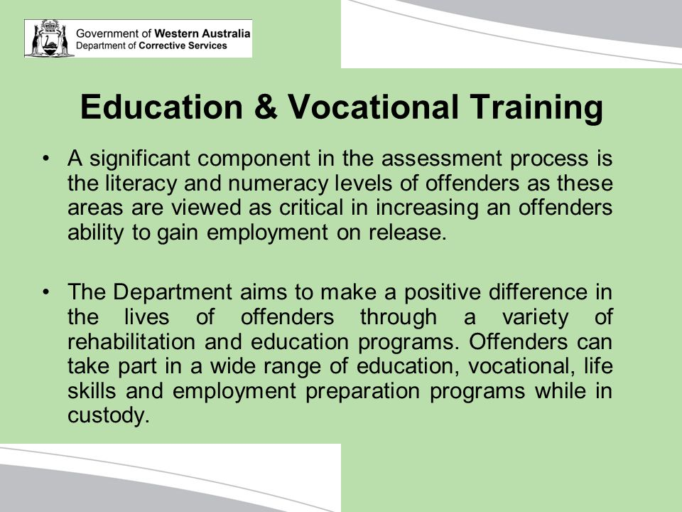 Education & Vocational Training