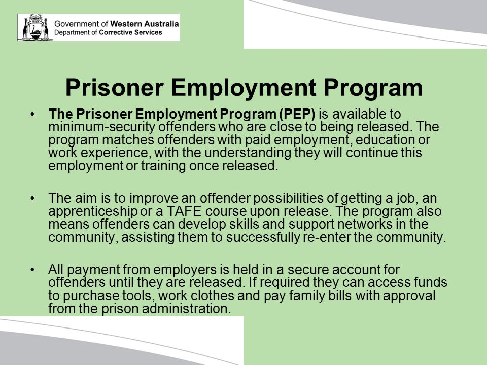 Prisoner Employment Program