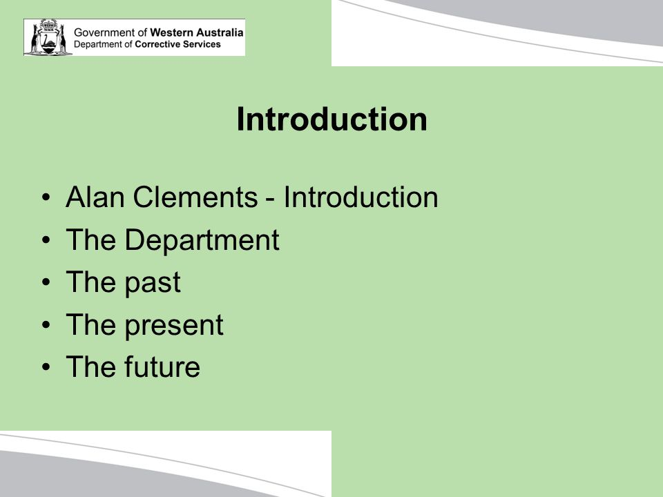 Introduction Alan Clements - Introduction The Department The past