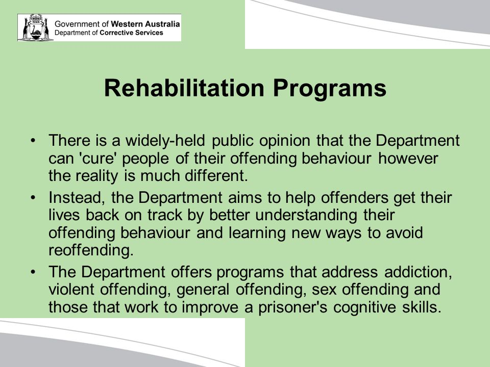 Rehabilitation Programs