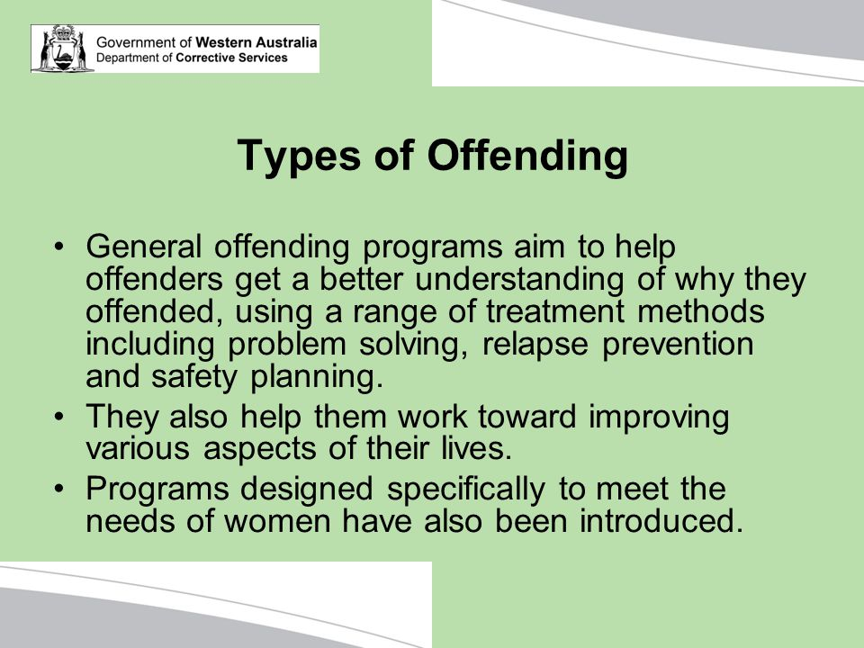 Types of Offending