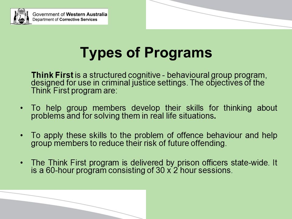 Types of Programs