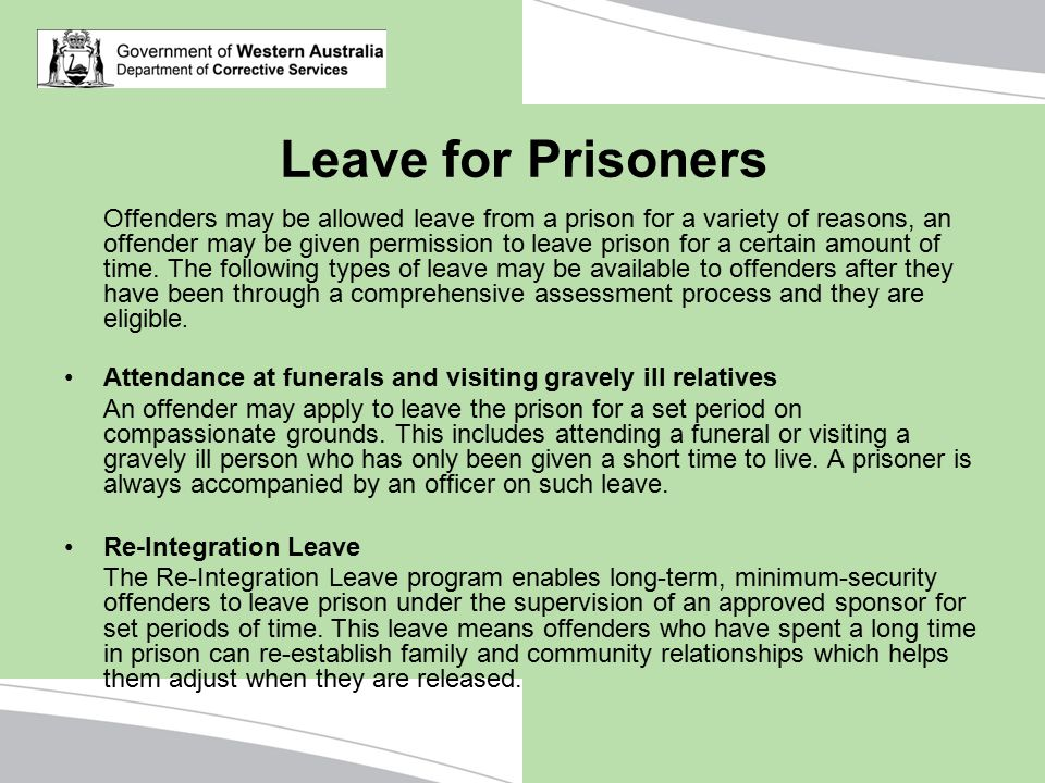 Leave for Prisoners