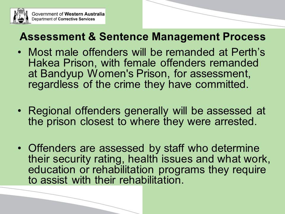 Assessment & Sentence Management Process