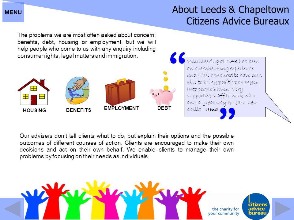 About Leeds & Chapeltown Citizens Advice Bureaux