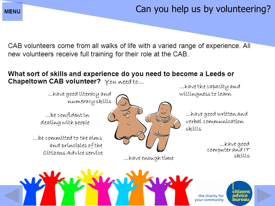 Can you help us by volunteering