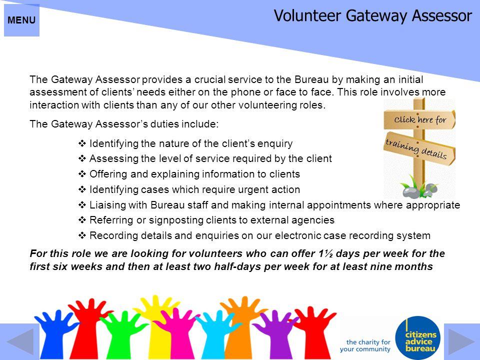 Volunteer Gateway Assessor