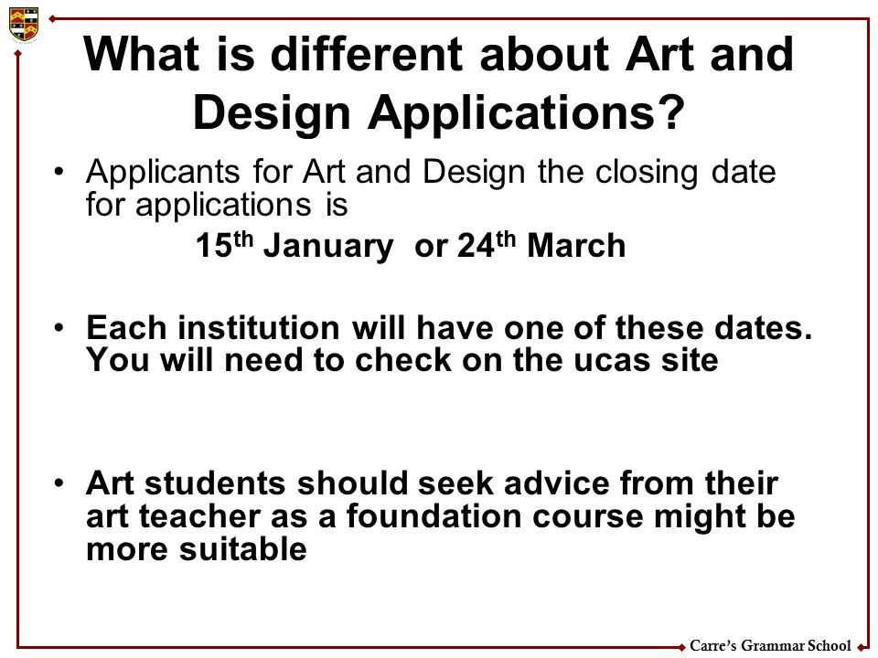 What is different about Art and Design Applications