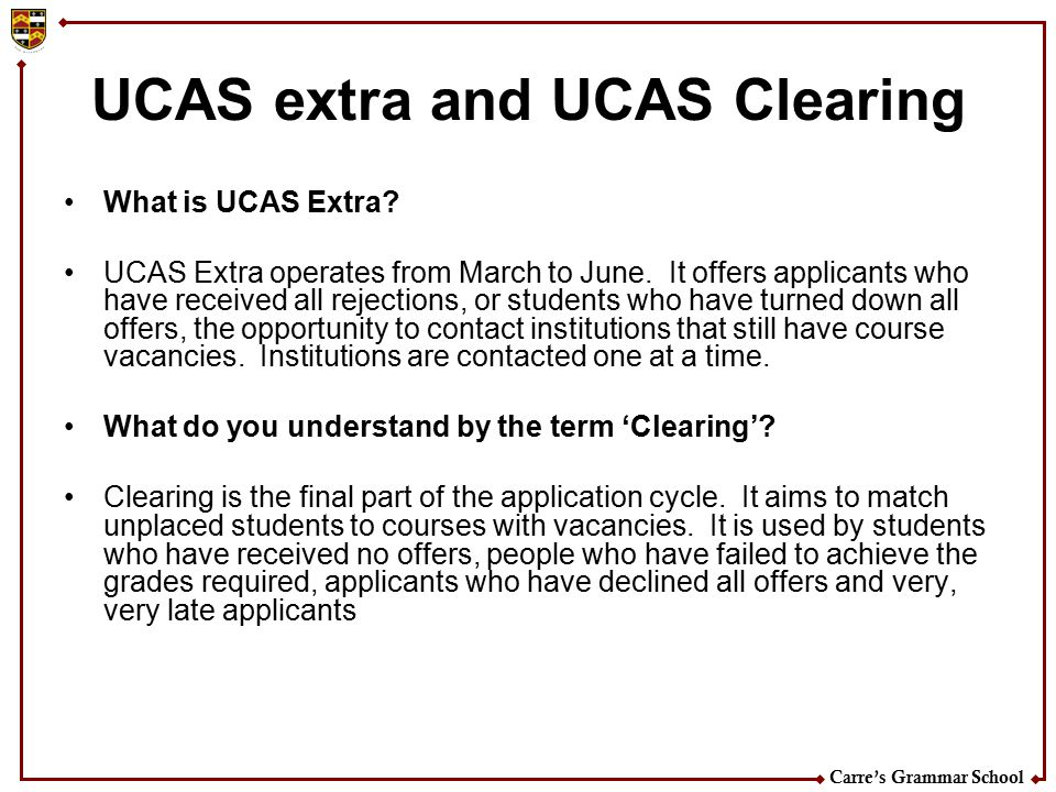 UCAS extra and UCAS Clearing