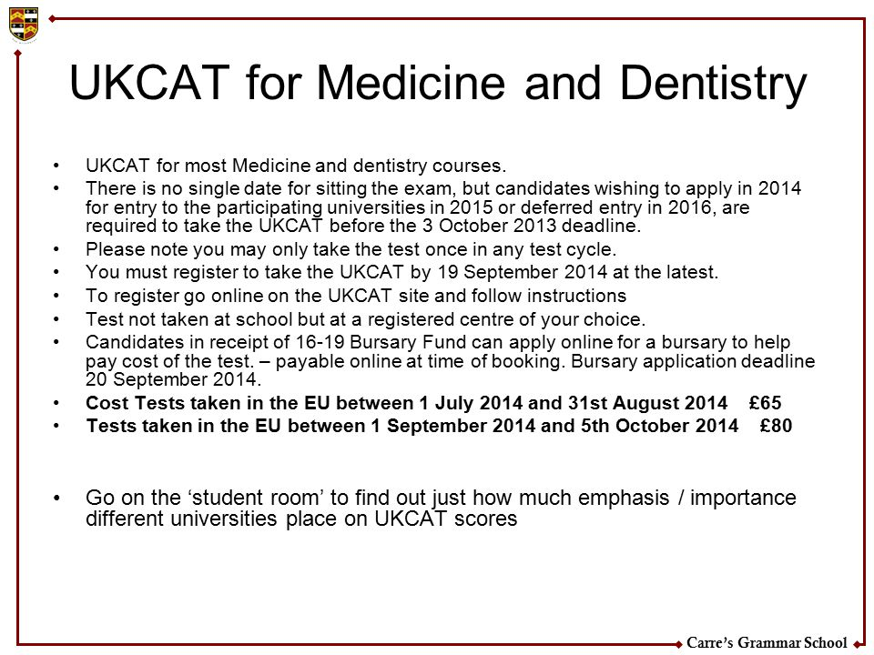 UKCAT for Medicine and Dentistry