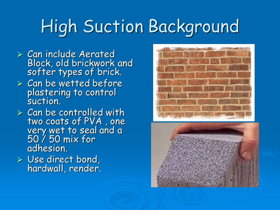 High Suction Background