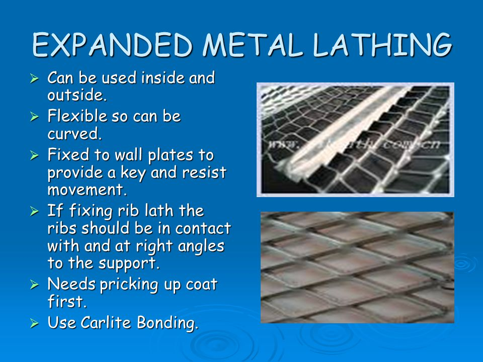 EXPANDED METAL LATHING