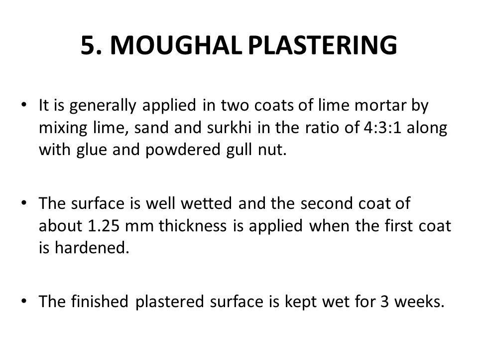 5. MOUGHAL PLASTERING