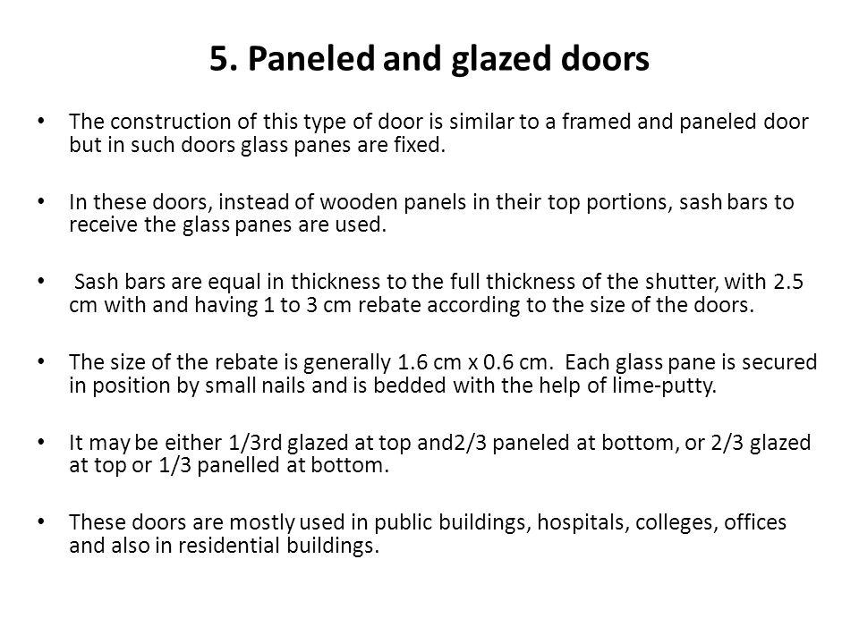 5. Paneled and glazed doors