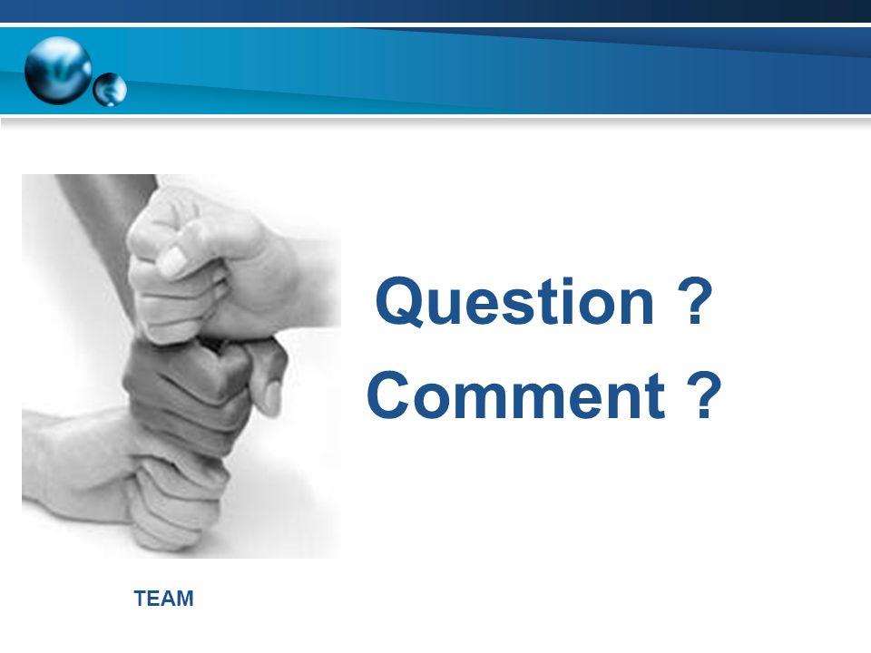 Question Comment TEAM