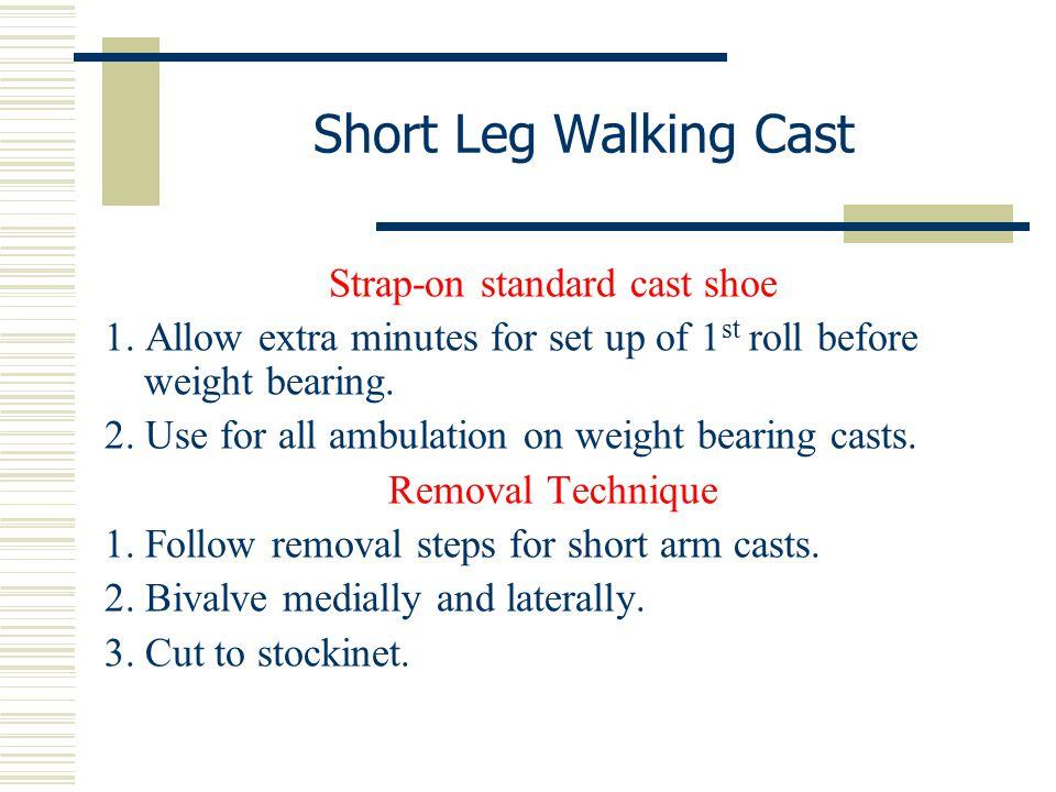Strap-on standard cast shoe