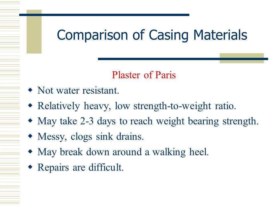 Comparison of Casing Materials