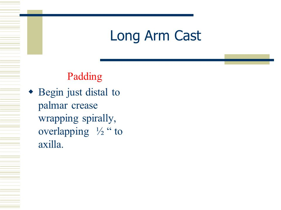 Long Arm Cast Padding.