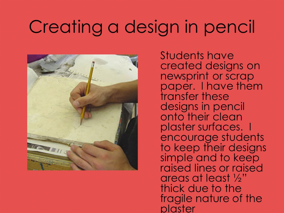 Creating a design in pencil