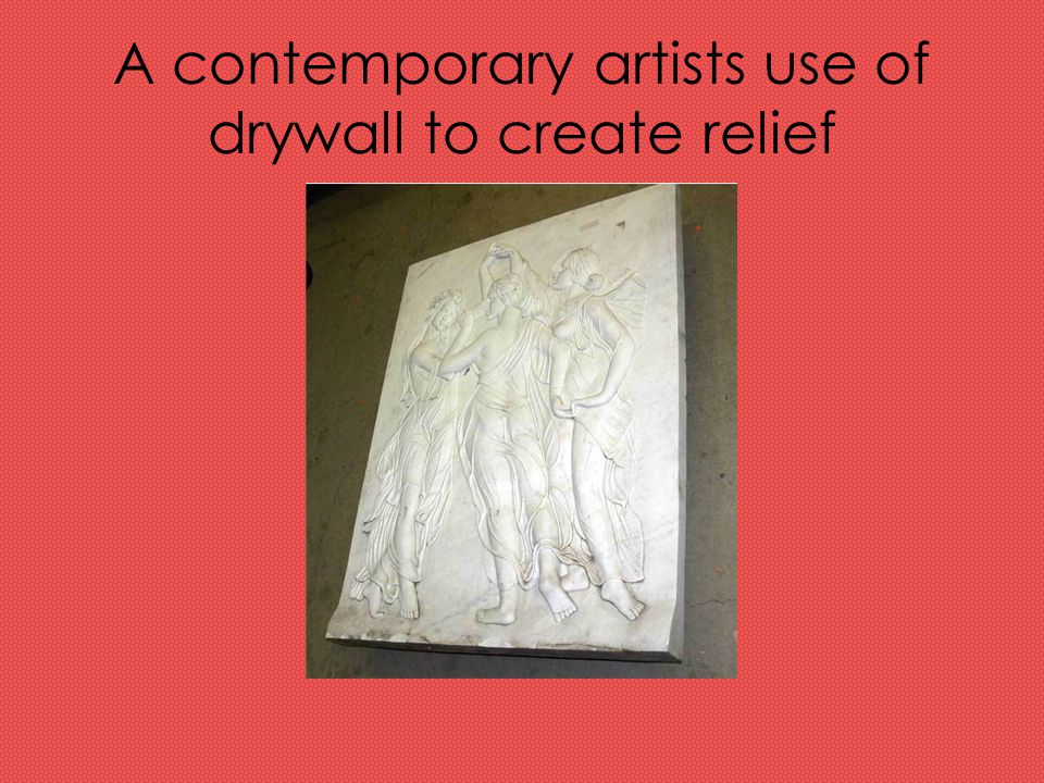 A contemporary artists use of drywall to create relief