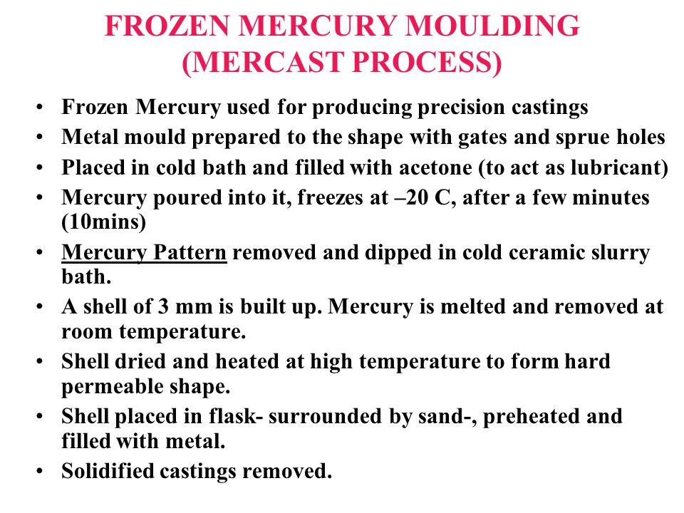 FROZEN MERCURY MOULDING (MERCAST PROCESS)