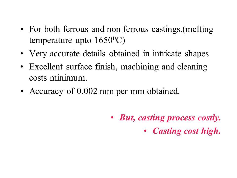 For both ferrous and non ferrous castings
