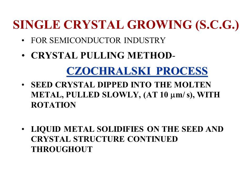 SINGLE CRYSTAL GROWING (S.C.G.)