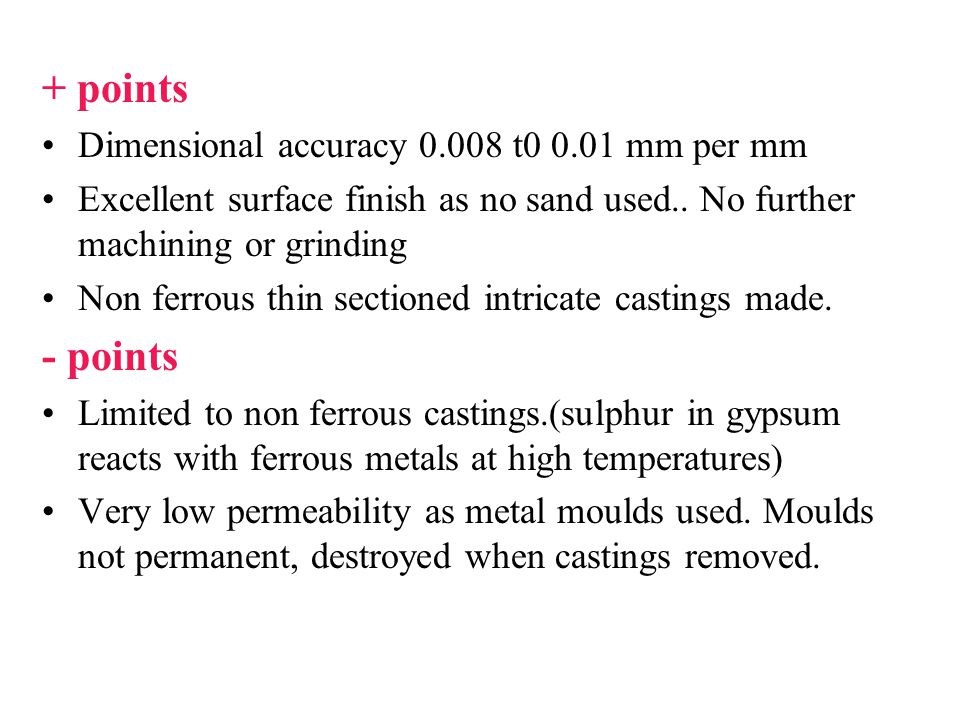 + points - points Dimensional accuracy 0.008 t0 0.01 mm per mm