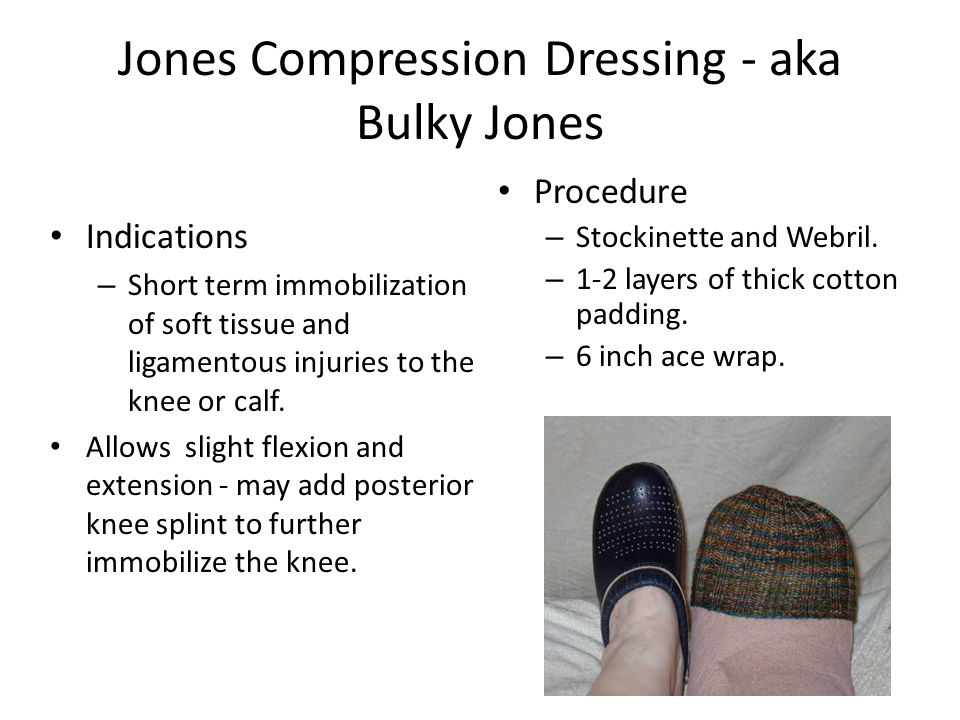 Jones Compression Dressing - aka Bulky Jones