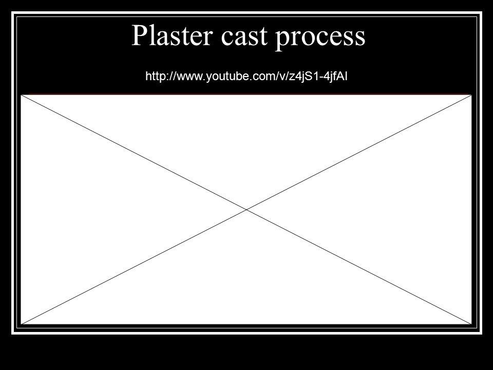 Plaster cast process http://www.youtube.com/v/z4jS1-4jfAI