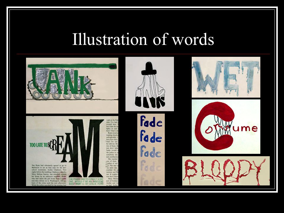 Illustration of words