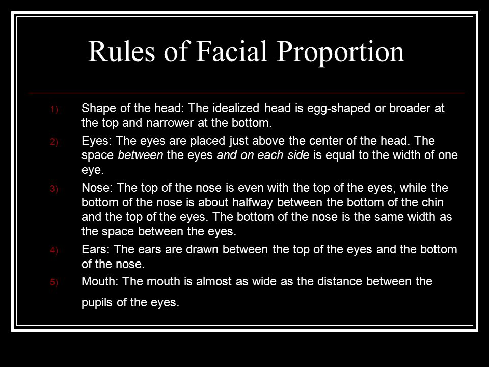 Rules of Facial Proportion