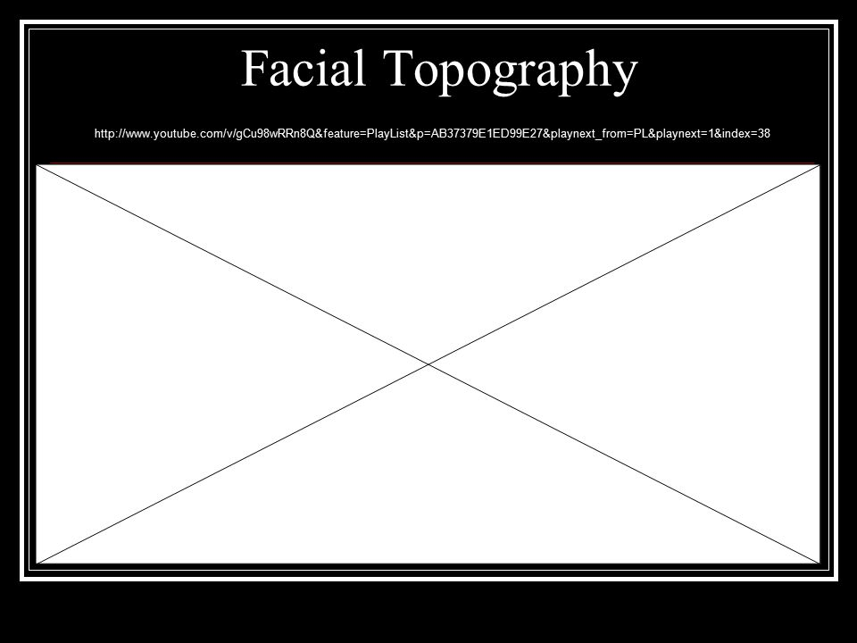 Facial Topography http://www.youtube.com/v/gCu98wRRn8Q&feature=PlayList&p=AB37379E1ED99E27&playnext_from=PL&playnext=1&index=38.