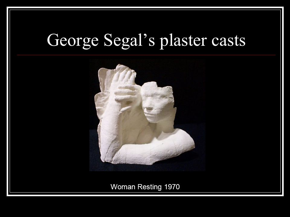 George Segal's plaster casts