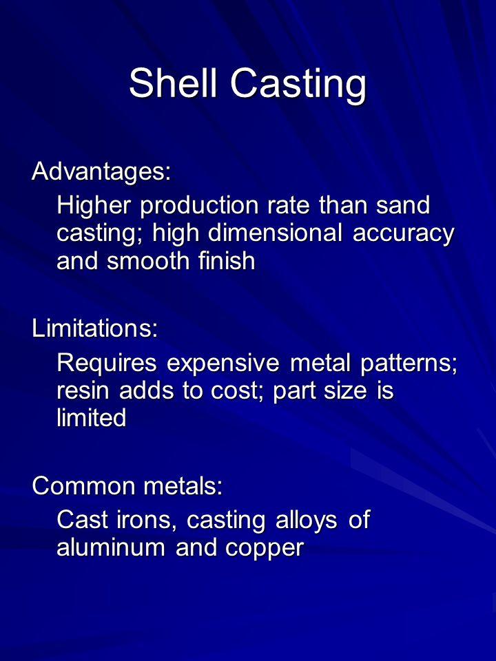Shell Casting Advantages:
