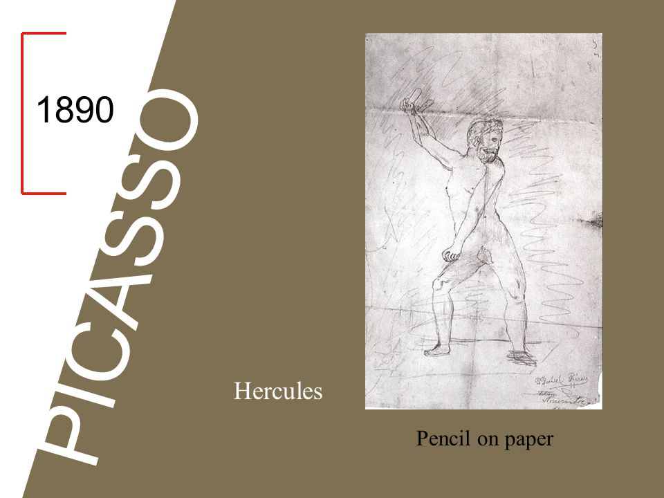 1890 PICASSO Hercules Pencil on paper