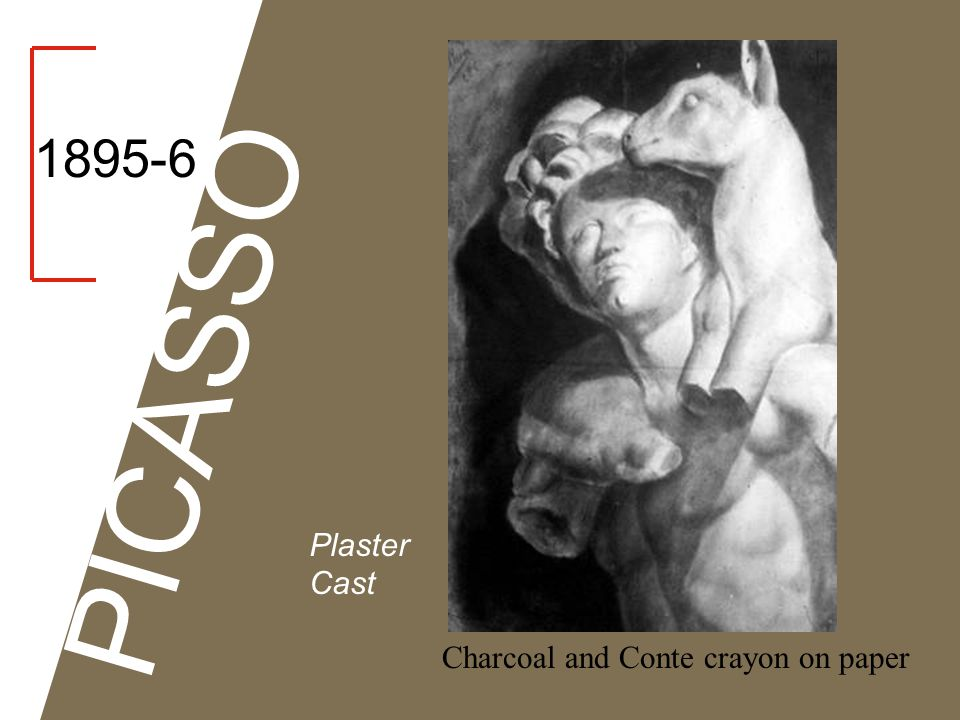 1895-6 PICASSO Plaster Cast Charcoal and Conte crayon on paper