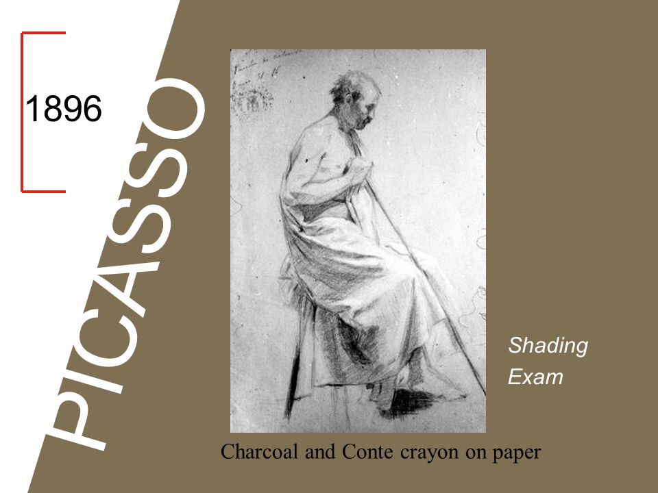 1896 PICASSO Shading Exam Charcoal and Conte crayon on paper
