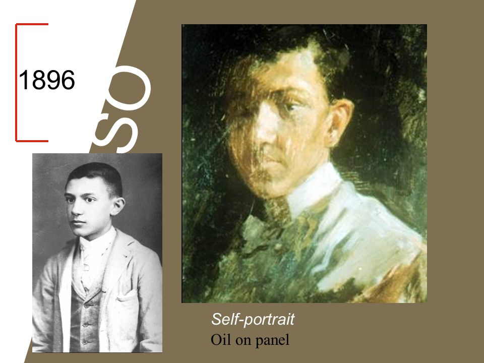 1896 PICASSO Self-portrait Oil on panel