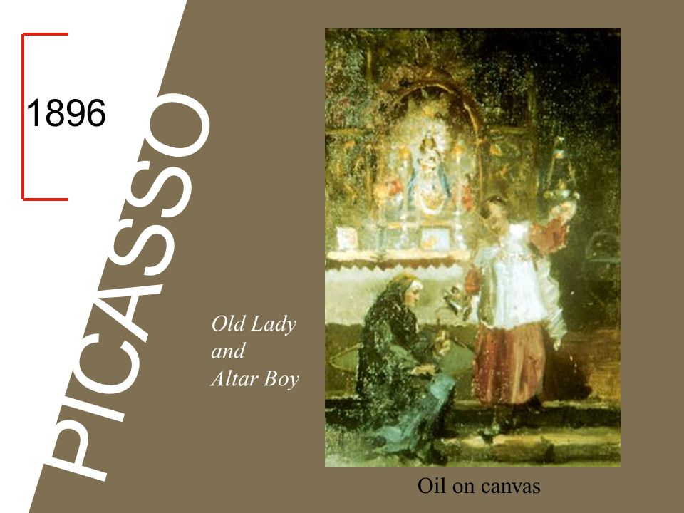 1896 PICASSO Old Lady and Altar Boy Oil on canvas